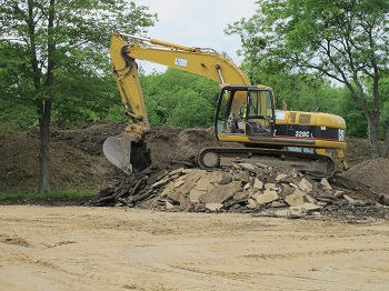 Progress continues on the site of the new Welcome Center at Atwood Lake Park