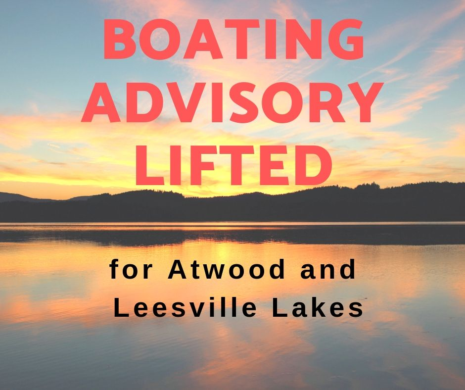 Boating Advisory Lifted for Atwood & Leesville Lakes