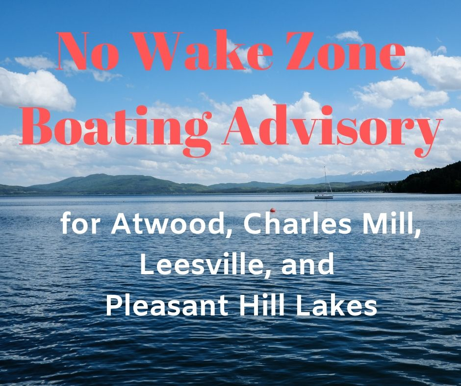 Boating Advisory for Atwood & Leesville Lakes